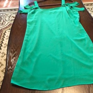 Apple green back zip dress fits size M never worn